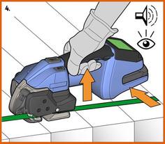 ORGAPACK 電池手持打包機打包步驟 4