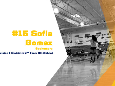 Gomez Awarded 2nd Team All-District Honors
