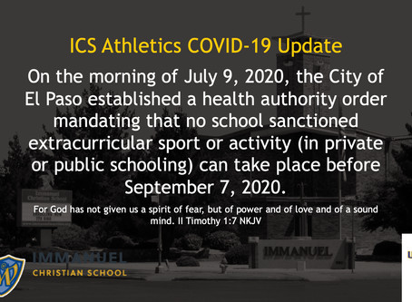 ICS Athletics COVID-19 Update