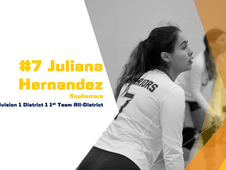Hernandez Awarded 1st Team All-District Honors