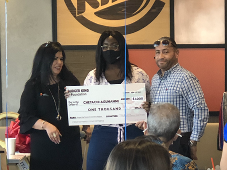 Chetachi Agunanne Receives BK Scholarship
