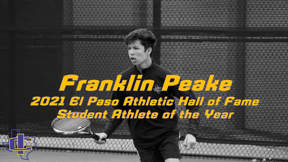 Franklin Peake Honored by El Paso Athletic Hall of Fame