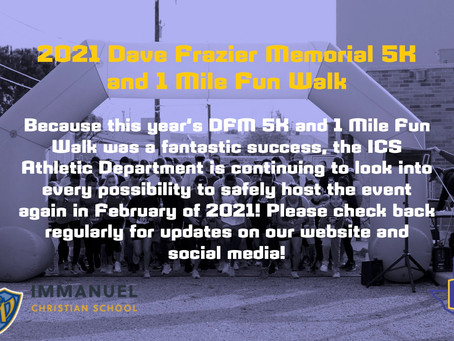 Statement on Dave Frazier Memorial 5K and 1 Mile Fun Walk
