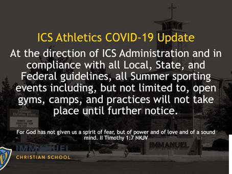 ICS Athletics COVID-19 Update
