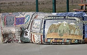 Conrete Bench with tile mural