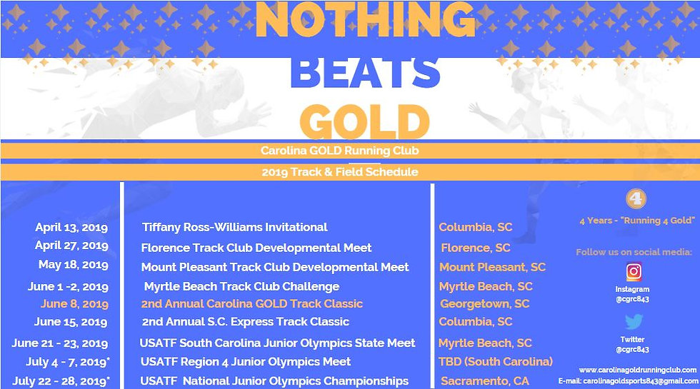 2019 Carolina GOLD Season Schedule.JPG