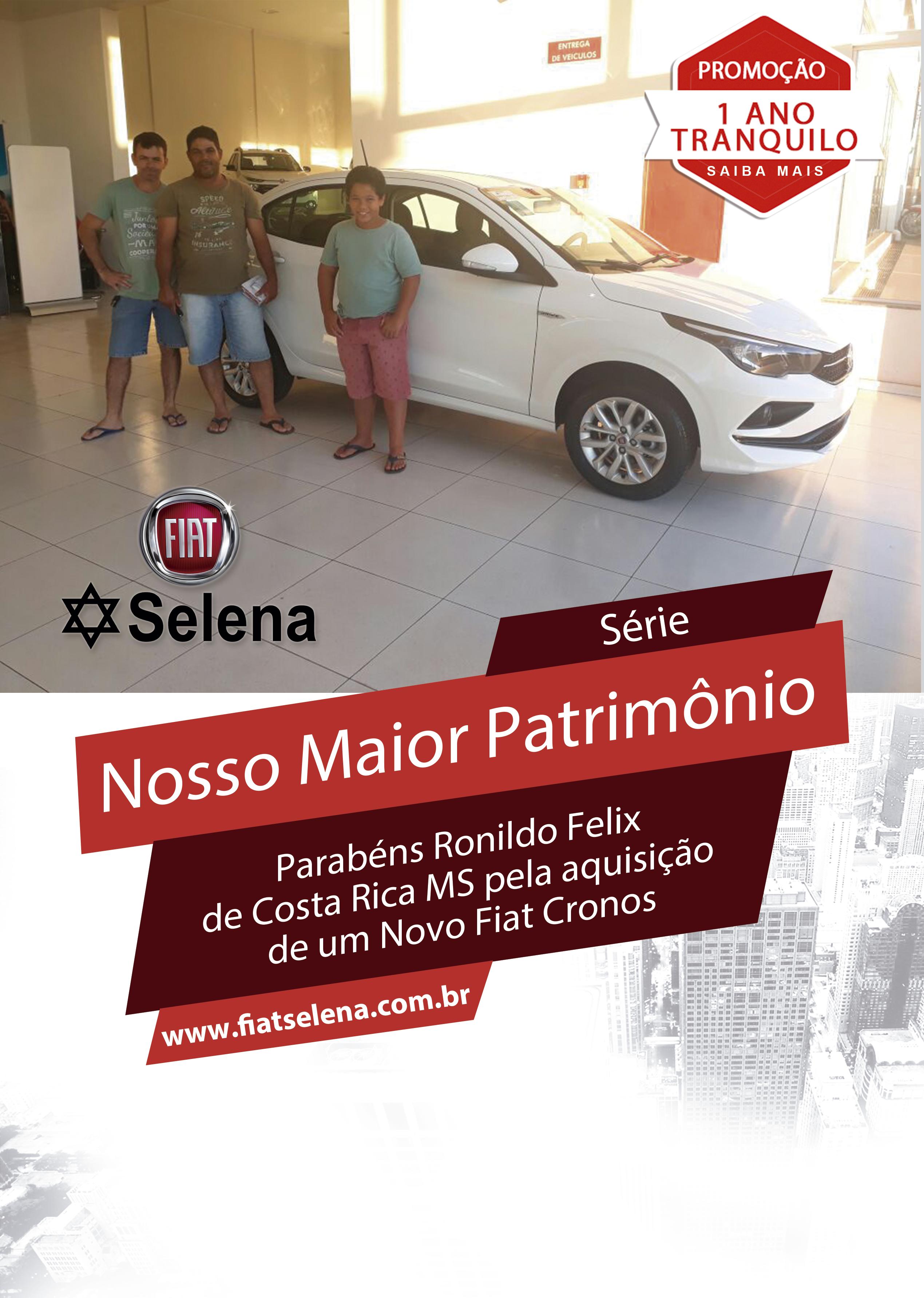 Ronildo Felix , de Costa Rica MS, Fiat Cronos png