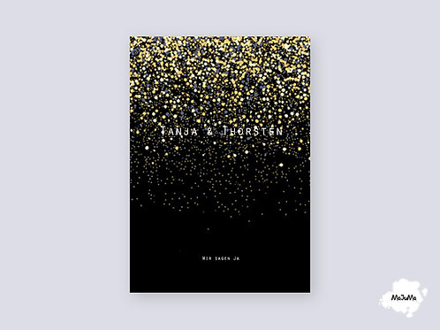 "Hochzeitskarte ""Rain"""