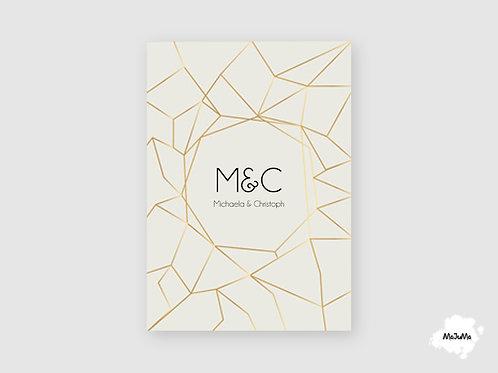 """Hochzeitskarte """"Netz"""""""