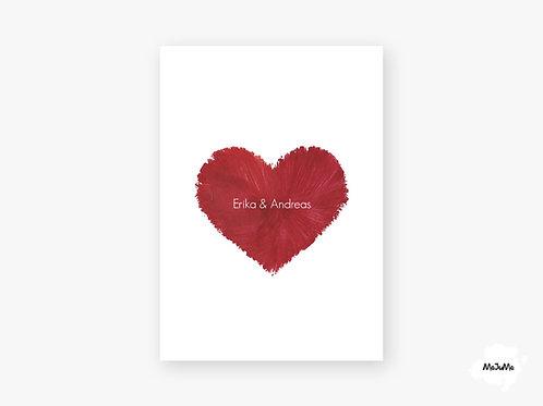 """Hochzeitskarte """"Red Heart"""""""