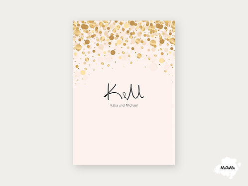 """Hochzeitskarte """"Letters"""""""