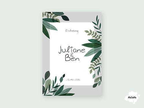 """Hochzeitskarte """"Green"""""""