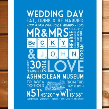 Bespoke Wedding Print