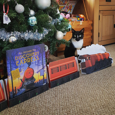 All Aboard the Discovery Express Standee