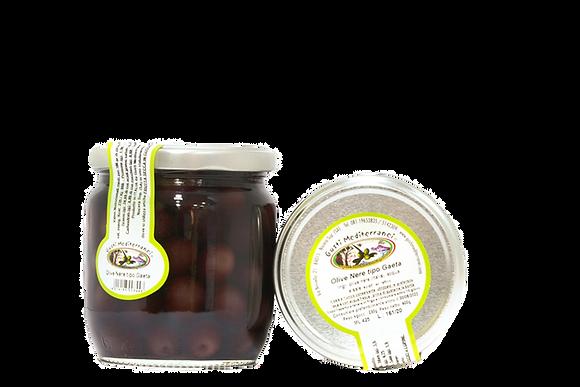 Gusti Mediterranei Olive nere di Gaeta al naturale 425gr