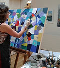 Maxine at easel Dec 2020.jpeg