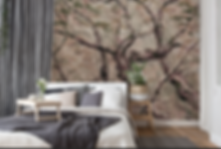 Bespoke mural wallpapers as featured wall art. Oil paintings created to your specification and printed as your own unique wallcovering. Images of tranquil woodland scenes brought into your home