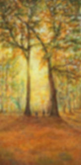 Fine art oil paintings on canvas, tranquil woodland scenes