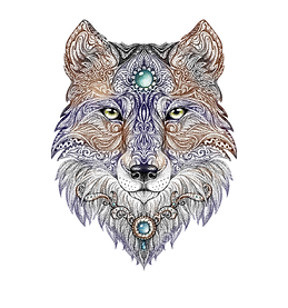 tattoo-head-wolf-wild-beast-prey-handmad