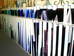 Glass Racks for Blue and Purple