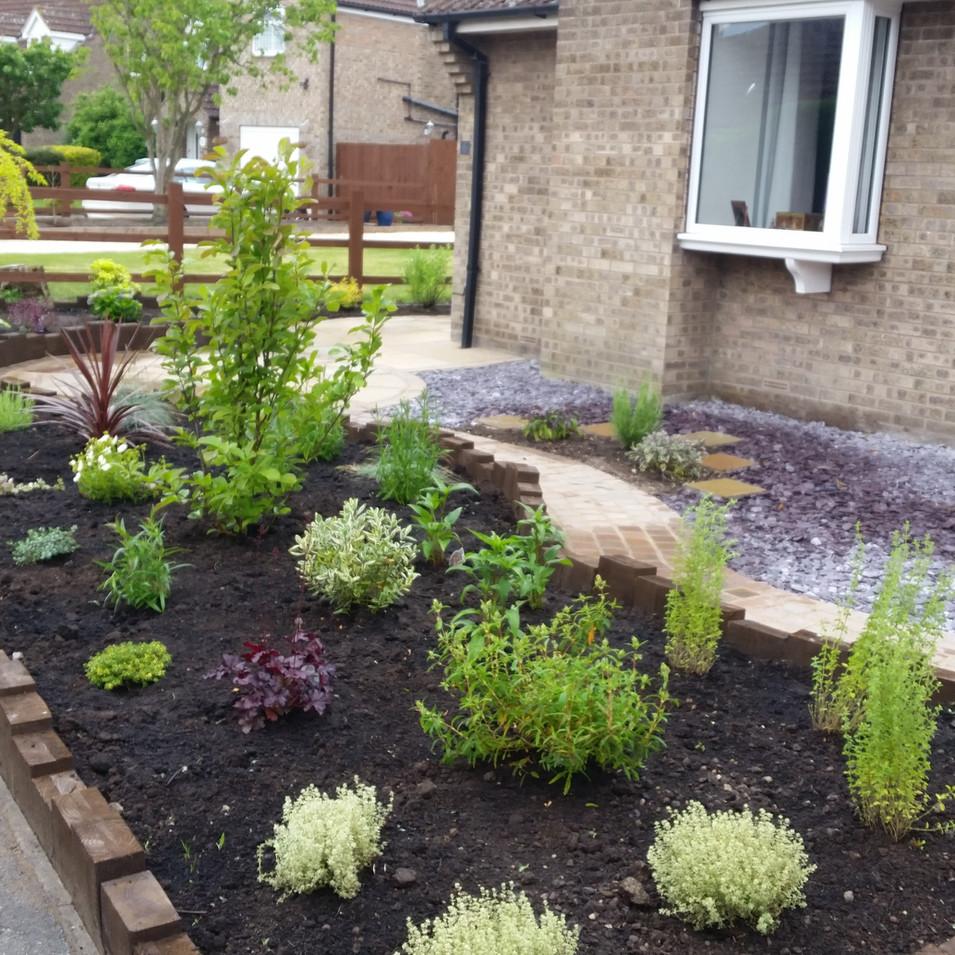 Front Garden design after