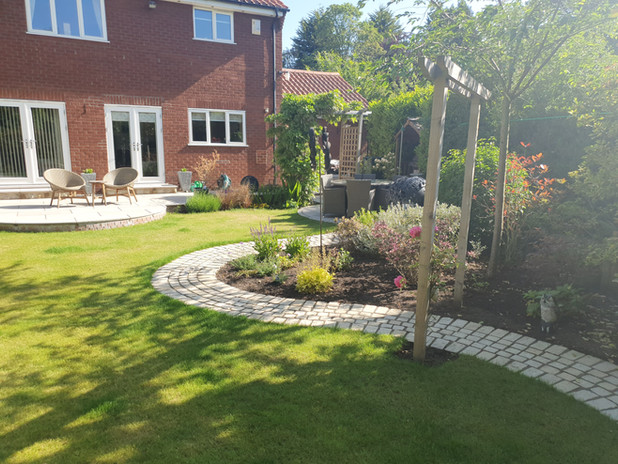 Lawn and path