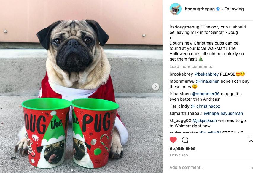 Doug with Christmas Cup