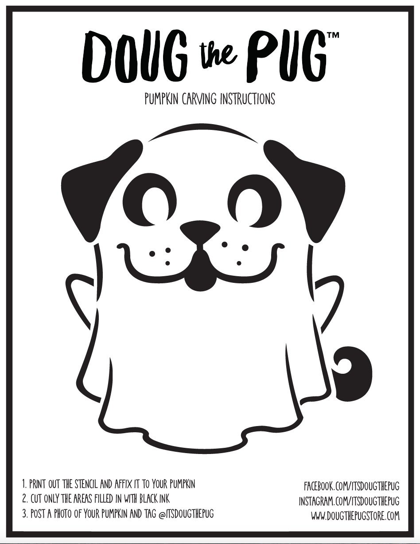 Doug 'Pug-O-Lantern' Stencil