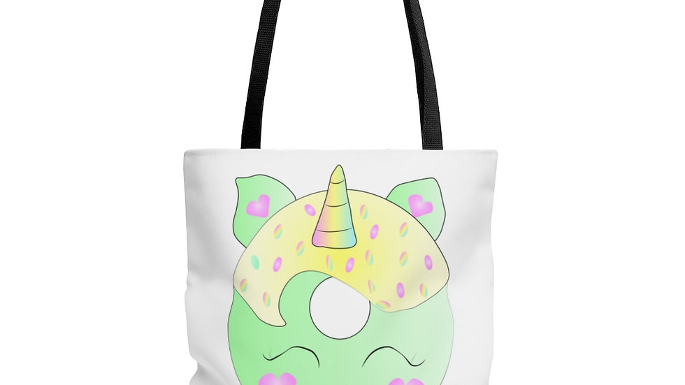 Unicorn Doughnut AOP Tote Bag