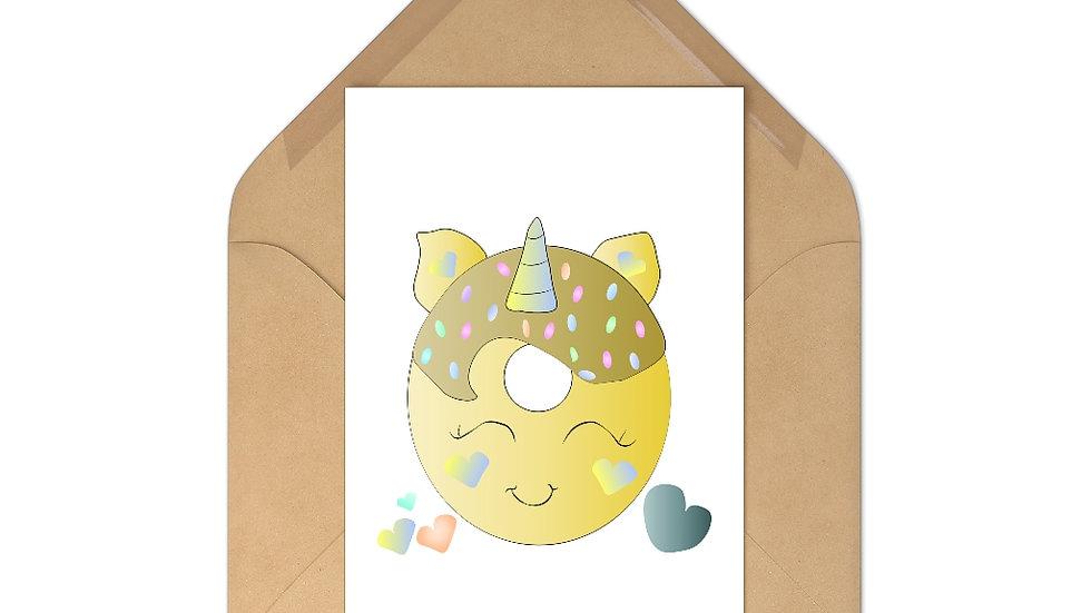 Unicorn Doughnut Postcards (7 pcs)