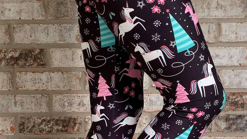 Christmas Unicorn Leggings