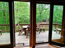 View from livingroom onto deck
