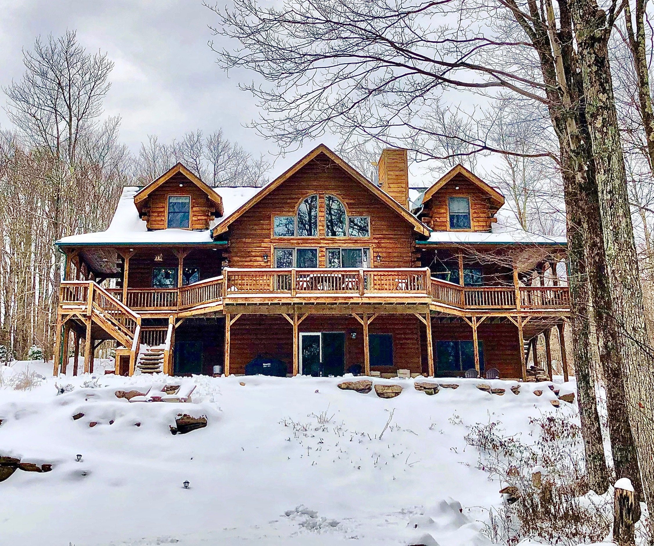 Clearwater Cabin in the Snow