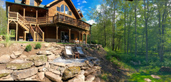 Cabin Back Deck & Lawn