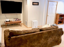 "Sofa, 57"" LCD TV, Nintendo, Wii, DVD"