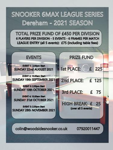 6 Max Snooker League Series