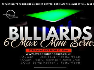 WOODSIDE BILLIARDS 6MAX LEAGUE MINI SERIES - Event 1