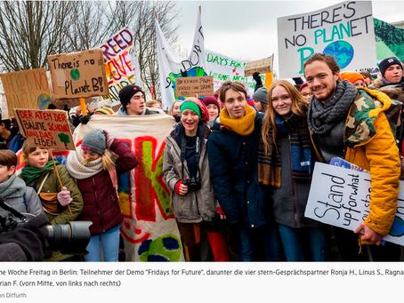 Ragna, Linus, Ronja und Florian: Sie schwänzen den Unterricht, um die Welt zu retten