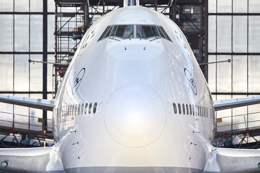 Eine Boeing747 der Lufthansa in der Halle 6 der Lufthansa Technik in FRA.