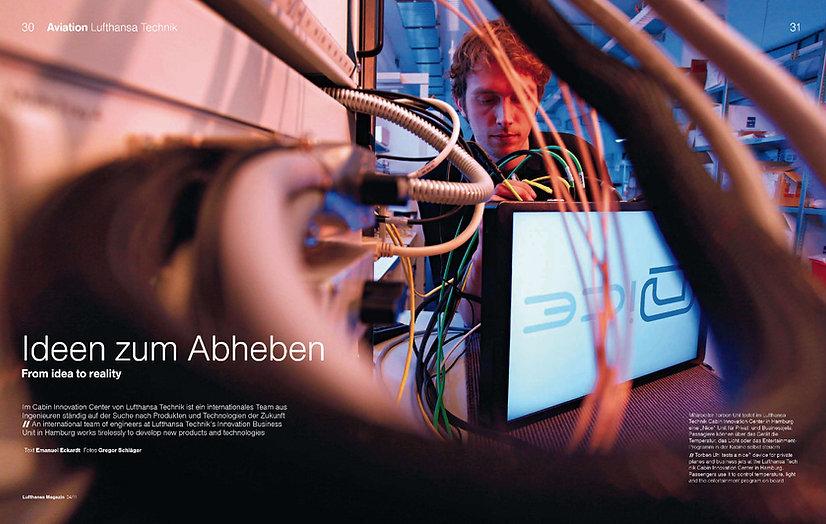Lufthansa Technik Entwicklung für das Lufthansa Magazin