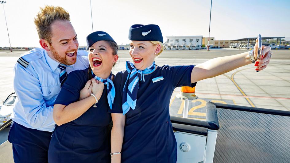 TUIfly Crew nach der Ankunft in Luxor