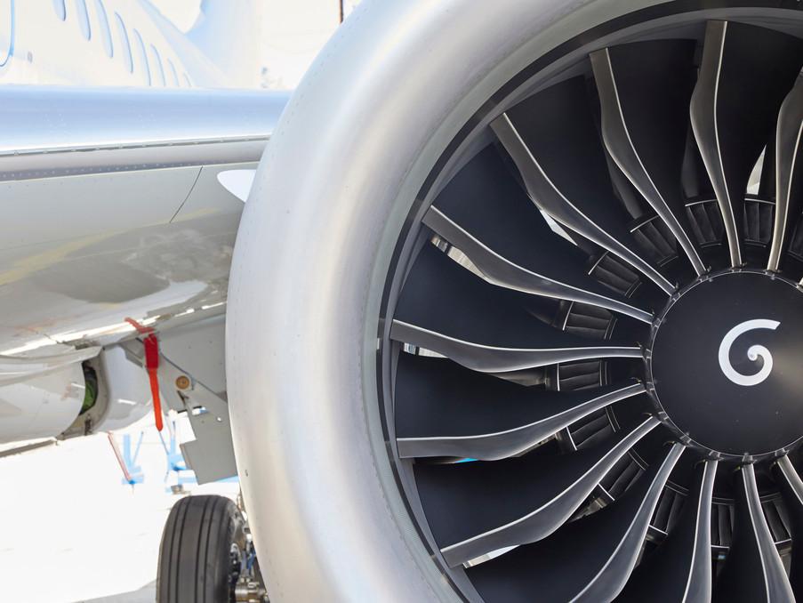 Engine1, einer fabrikneuen Boeing 737 in Seattle/ USA.
