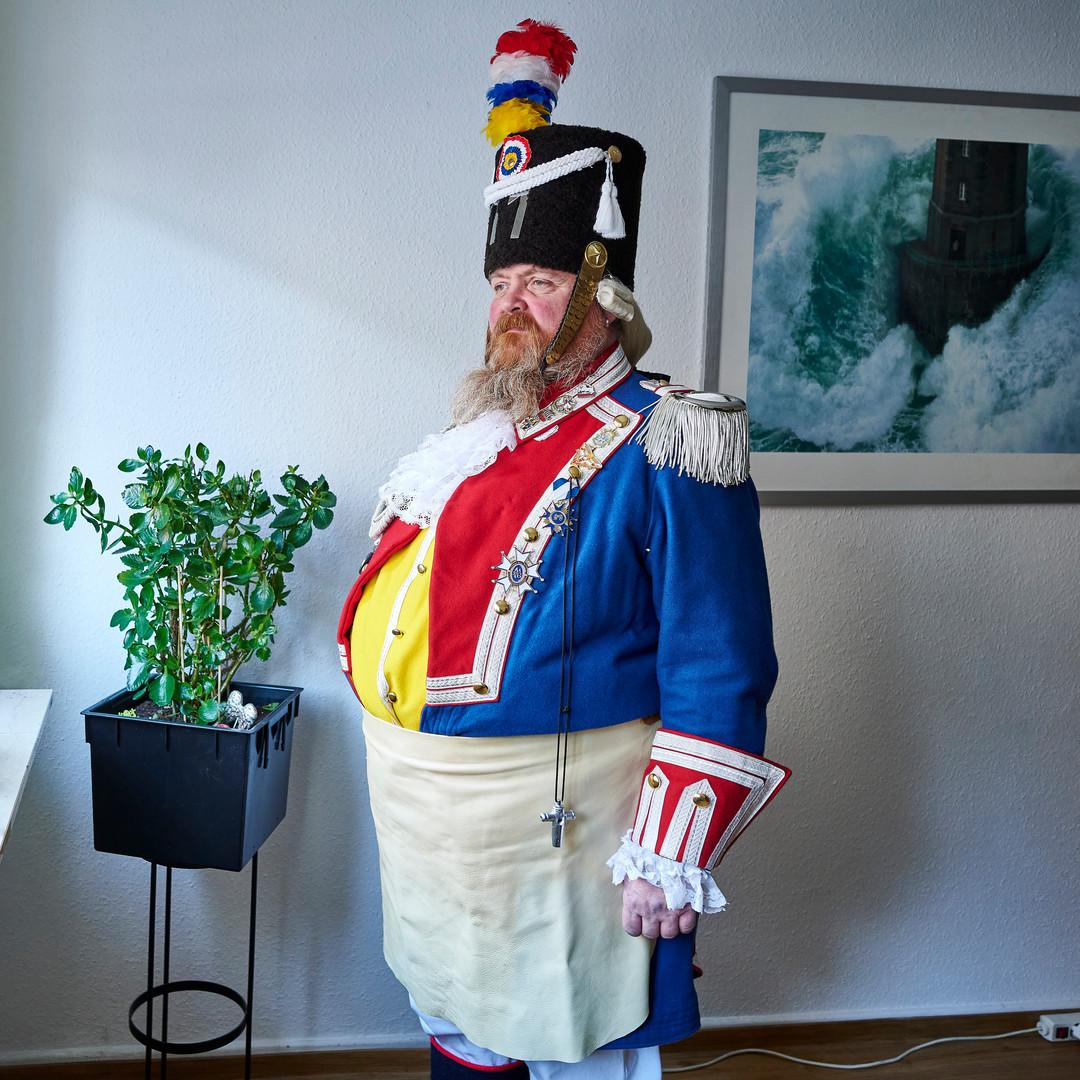 Ranzengardist Ernst meint dass Karneval eine ernste Angelegenheit ist