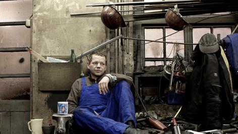 Martin ist Schlosser auf der Flint Werft