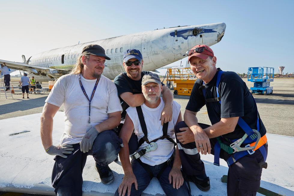 Das Team der Lufthansa Technik.