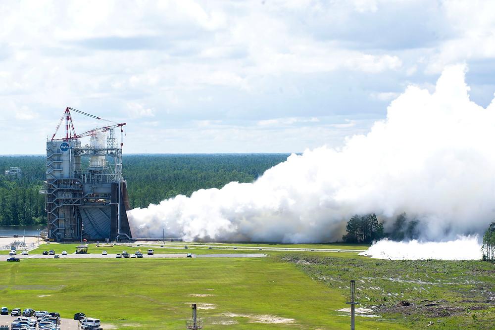 R25 engine test at Stennis Space Center
