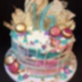 Birthday Cake painted white   chocolate.
