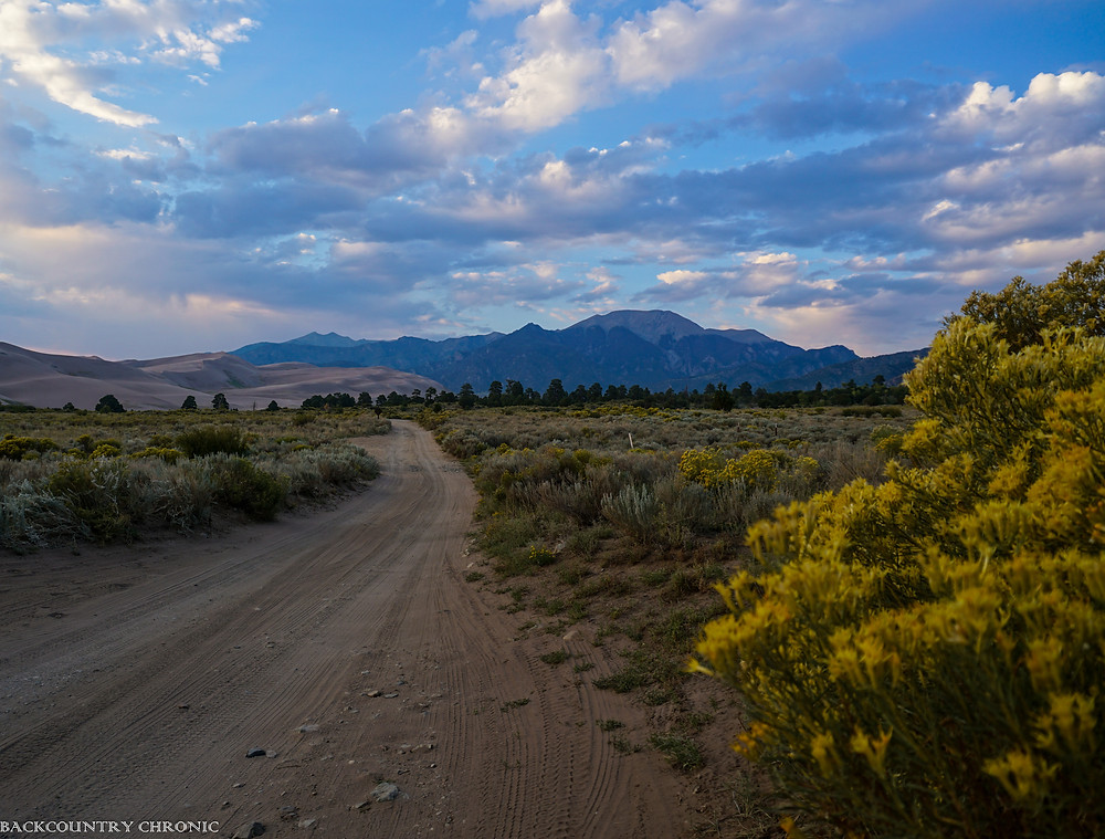 Looking north at Great Sand Dunes National Park