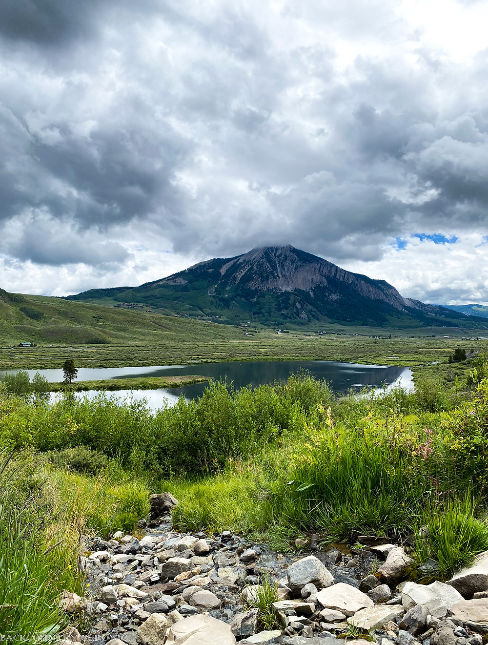 Storm clouds over Mount Crested Butte