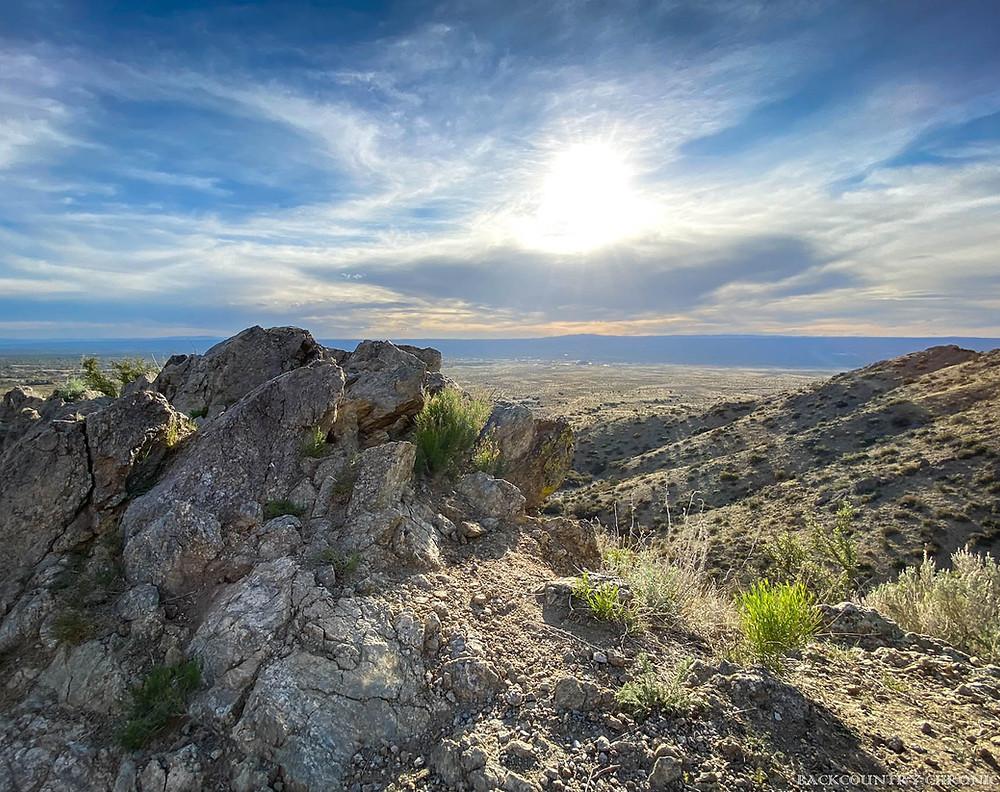 Hiking trail views in Albuquerque, New Mexico